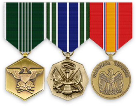 Ribbons Standard Medals