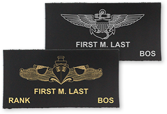 Navy Leather Name Tag Builder by USAMM