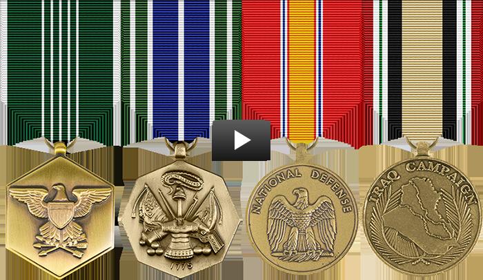 Military Medals Rack Builder